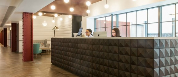 Reception serviced office