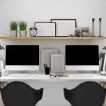 modern workspace for two template, mock up background