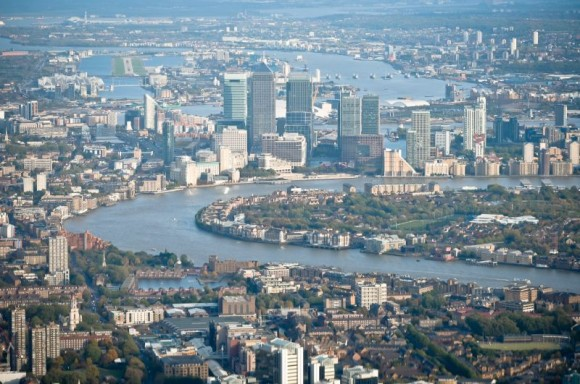 The City of London from the air