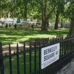 Berkeley Square with sign
