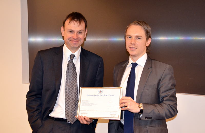 Business Centre Excellence Award